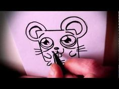 How To Draw A Cartoon Mouse By Garbi KW, Easy Drawing