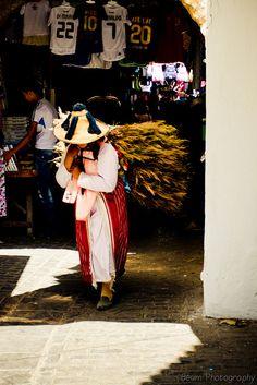 Berber Lady in the Old Medina Tetouan, Morocco