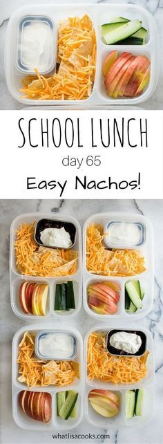 A super easy school lunch from http://WhatLisaCooks.com that the kids will love. Packed in #EasyLunchboxes containers