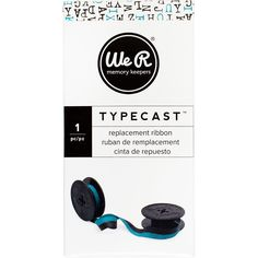 We R Typecast Typewriter Ribbon -Teal/Black