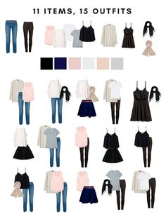 Capsule wardrobe packing for a summer in Europe