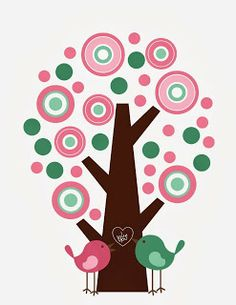 Giggle and Print: Retro LOVE Tree-- FREE Printable!!!