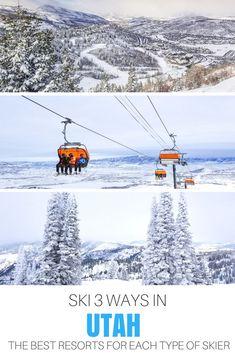 Ski #Utah 3 ways: The best resorts for every type of skier.   #USA   #Travel   #Ski   #Snowboard   #Mountain   #Snow