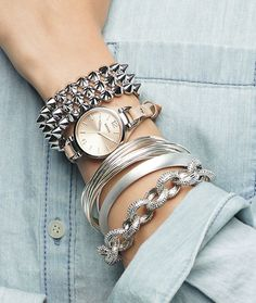 Bangle and watch stack ♥✤ | Keep the Glamour | BeStayBeautiful