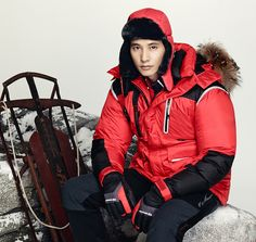 Even though they're swaddled in comfortable, thick down jackets, models Won Bin and Victoria remain sophisticated, graceful, and alluring in these CENTER POLE F/W 2013 visuals. Autumn Tale, Autumn In My Heart, Won Bin, Tough Guy, Korean Actors, Canada Goose Jackets, The Man, Winter Jackets, Victoria