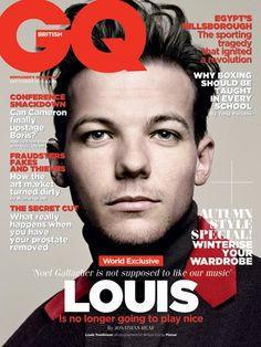 Louis Tomlinson on the cover of GQ | um Lou is the sunshine prince, he can play nice.