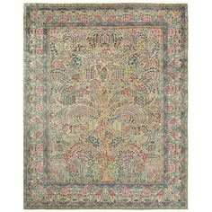 Fine Antique Persian Kerman Tree of Life Design Carpet | From a unique collection of antique and modern persian rugs at http://www.1stdibs.com/furniture/rugs-carpets/persian-rugs/