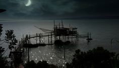 """""""Trabocco"""" in the moonlight by Vittorio Chiampan"""