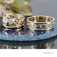 Custom Claddagh Rings in Gold. Starting at $600 USD