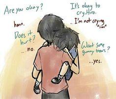 Hiro and Tadashi Hamada from Big Hero 6<<<GUMMY BEARS!! ......I'm sorry. I will leave now.