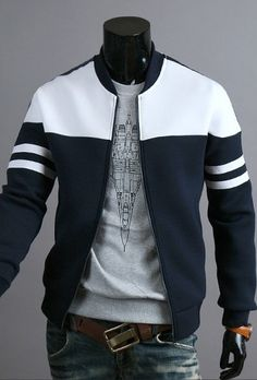 Buy 2018 Brand Men's Zipper Jacket Coat Fashion Hoodies Sportswear at Wish - Shopping Made Fun Mens Winter Coat, Winter Coats, Winter Jackets For Men, Winter Clothes, Mode Mantel, Herren Winter, Revival Clothing, Herren Outfit, Mode Style
