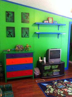 Ninja turtle room diy | Kids | Pinterest | Ninja turtle room, Ninja ...