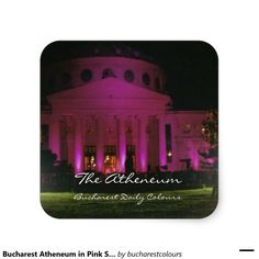 """""""In October wear pink, the symbol of hope"""" . Every year on the of October many important monuments and buildings in cities around the globe are iluminated in pink, as a symbol of ho… Hope Symbol, Bucharest, Four Seasons, Colours, Ceiling Lights, Stickers, City, Monuments, Globe"""