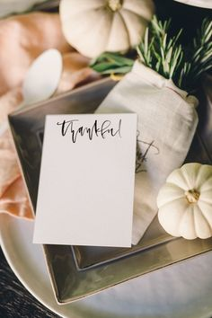 Get Thankful | Printable — A Fabulous Fete