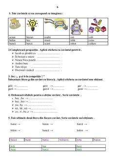 6654510 fise-limba-romana-clasa-i Visual Perceptual Activities, Romanian Language, 4 Kids, Children, Math School, School Lessons, Preschool Activities, Parenting, Romans