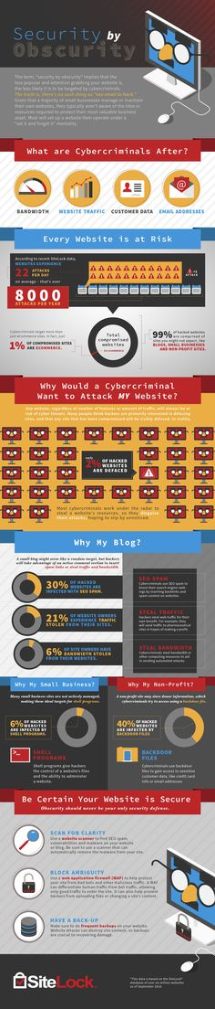 SiteLock Security by Obscurity Infographic