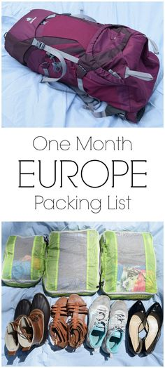 With only a carry-on, packing for our one month trip through Europe had to get simple, versatile, and most importantly small. Here's my packing list for a one month trip through Europe!