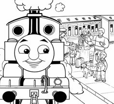Thomas and friends Duck the tank engine train coloring