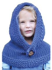 knitted hood, extends over top of shoulders. terrific under a coat, or alone