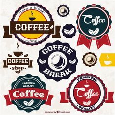 Coffee vector stickers