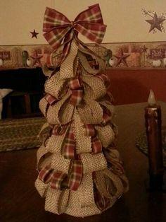 Image result for burlap christmas tree diy