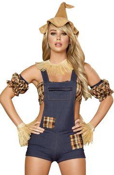 Sexy Scarecrow Costume, Scarecrow Costumes, Sexy Halloween Costumes