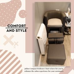 We've designed Julius Pedi Chair to be super comfortable and stylish, but also to be a compact 😉 so, if you've done making pedicure, you can close it so it looks like a normal chair. Bella Furniture, Salon Furniture, Furniture Making, Custom Made Furniture, Bespoke Furniture, Handmade Furniture, Beauty Nail Salon, Pedicure Chair, News Studio