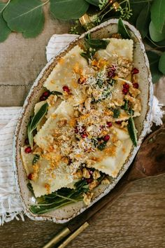pumpkin ravioli with
