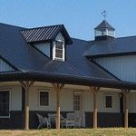 1000 images about metal building home gym on pinterest for Amish built pole barn houses