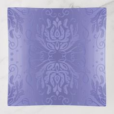 Elegant Lavender Floral Damask Trinket Trays - floral style flower flowers stylish diy personalize