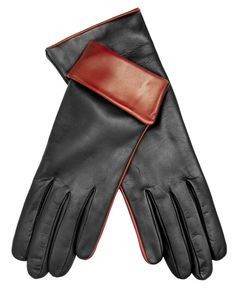 Women's Cashmere Lined Leather Gloves with Contrast Cuff By Fratelli Orsini $99.95