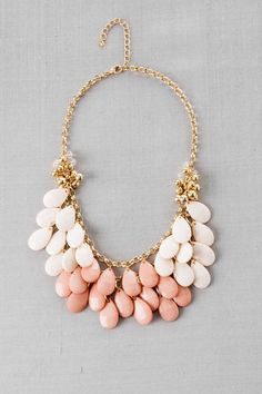 $28 - A beautiful statement necklace that can be paired with warm colors for fall
