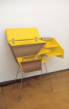 Commode by March Gut: Slides and pivots together like a magic treasure box! http://www.marchgut.com/