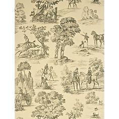 Buy Sanderson Fox Hunting Toile Wallpaper Online at johnlewis.com