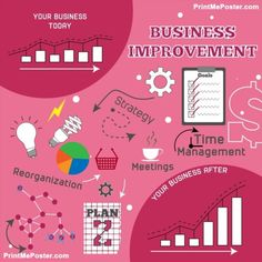 Business improvement infographic vector illustration poster #poster, #printmeposter, #mousepad, #tshirt