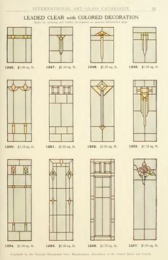 Leaded Glass from International Art Glass Catalogue by National Ornamental Glass…