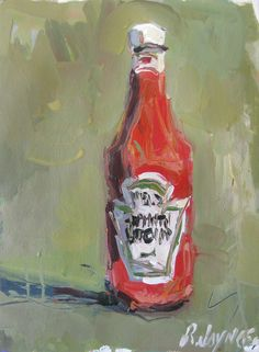 R. Joyner Contemporary ketchup bottle painting