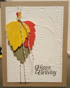 Vintage Leaves Birthday