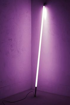 Noticed lately: Neon lights reminiscent of the work of Dan Flavin, who used off-the-shelf fluorescent lights in his lighting sculptures.