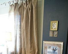 burlap curtains 34x96 with lined set of twomadeinburlap