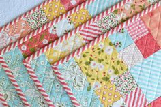 beginner charm pack placemats — grey dogwood studio
