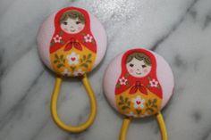 www.babyraindrops.com. Matryoshka doll pony tail holders make adorable party favors by Baby Raindrops, $5.95.