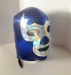 Blue Demon Mask Lucha Libre Mask Blue Demo Viva by FiestaMexicana