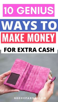 OMG YOU GUYS. These 10 ways to make extra money with side hustles is PURE GENIUS. If you're strapped for cash and need a little extra money (especially during holidays) then these ideas and tips are all you need.