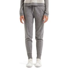 TopshopCashmere Jogger Pants ($138) ❤ liked on Polyvore featuring light grey and topshop