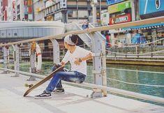 Wide Japanese Headband, popular in Japan when running, skating, at the gym or just as street style. #mensheadband #mensfashion #fashion #japan