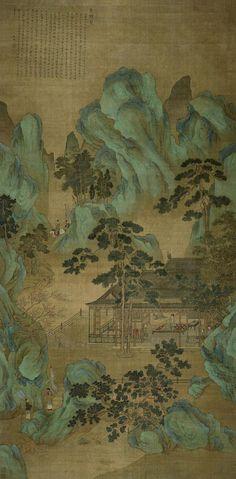 仇英 晝錦堂圖 立軸 Ming Dynasty