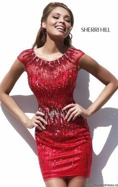 Sherri Hill 9718 by Sherri Hill - 2014 - red dress