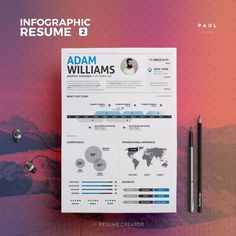 Infographic Resume Vol.2  Word Indesign and by TheResumeCreator