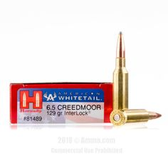 Hornady American WhiteTail 6.5 Creedmoor Ammo - 20 Rounds of 129 Grain SP Ammunition
